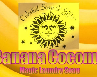 Banana Coconut  Natural VEGAN Laundry Soap Powder Bag - 40-80 LOADS Gross Wt. 44 oz.