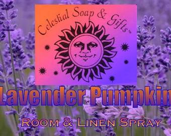 Lavender Pumpkin Room & Linen Freshener Spray 2.5 oz. Aluminum Bottle