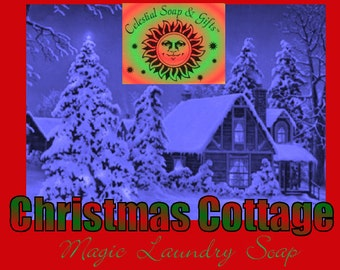 Christmas Cottage LIMITED Edition Natural VEGAN Laundry Soap Powder Bag - 40-80 LOADS Gross Wt. 44 oz.