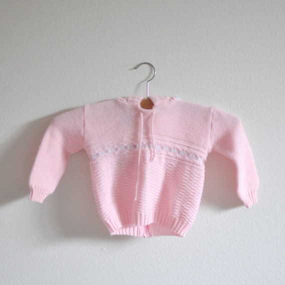 CLEARANCE - Vintage Pink Hooded Sweater (9-12 months)