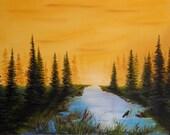 "Original Oil on Canvas - 18"" x 24"" - ""Golden Dawn"""