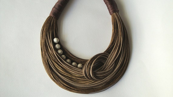 Earth Tones Statement Necklace