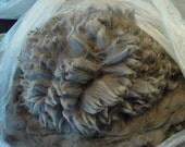 1 lb. GREY Raw Alpaca Fleece/ Fiber/ Wool