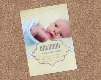 Custom Photo Birth Announcement - Anthony