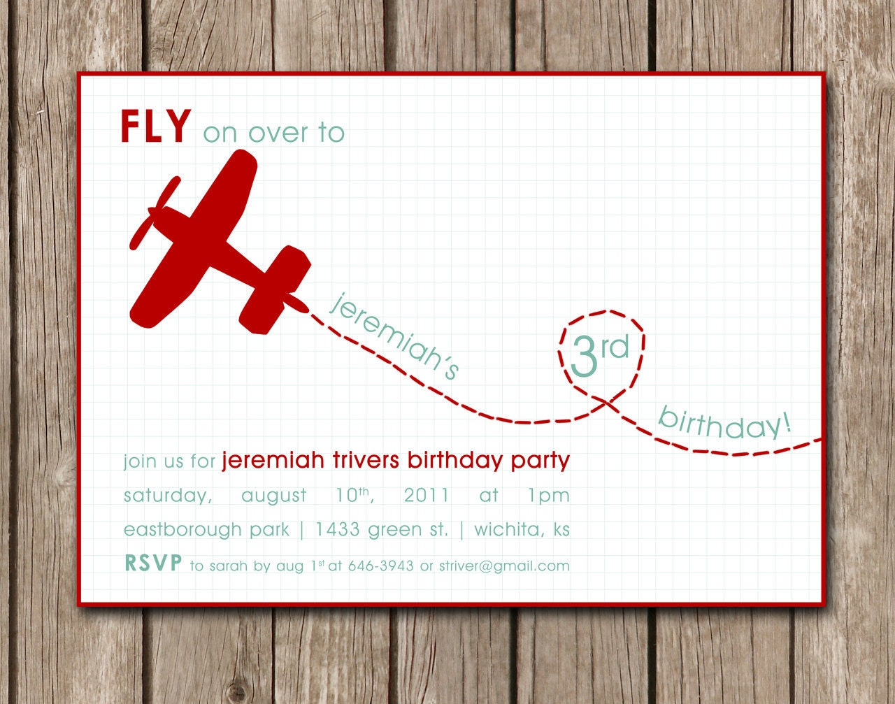 Airplane Invitations with nice invitation template