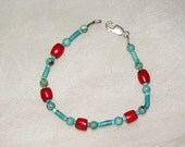 Classic Coral and Turquoise bracelet