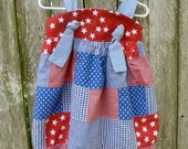 Patriotic Patchwork Knot Dress