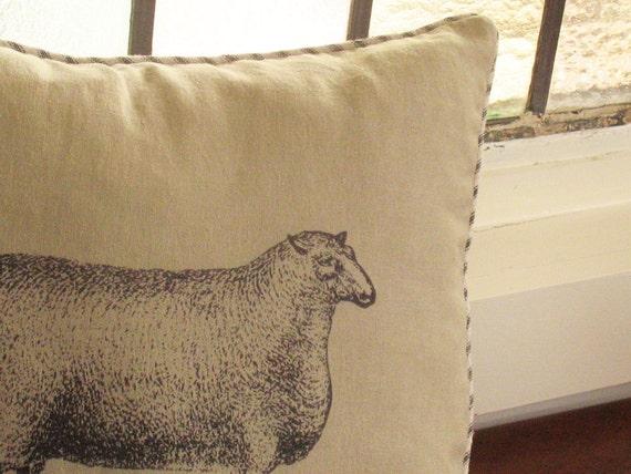 Sheep No. 4 Linen Pillow