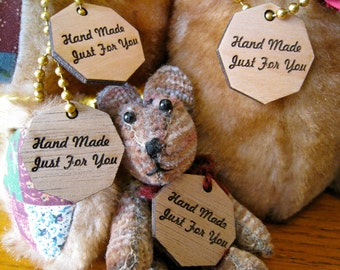 Custom Laser Engraved Birch Ply Wood Tags (set of 25)