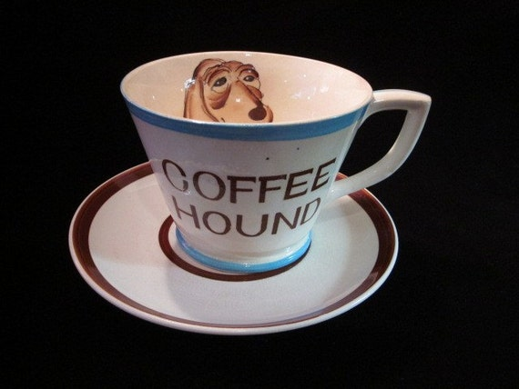 Coffee Hound Extra Large Cup Saucer