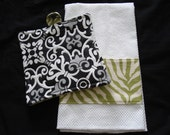 Black and White Hostess Set