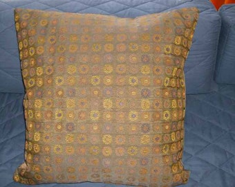 24 x 24 Coin Print Colorful Throw Pillow Cover