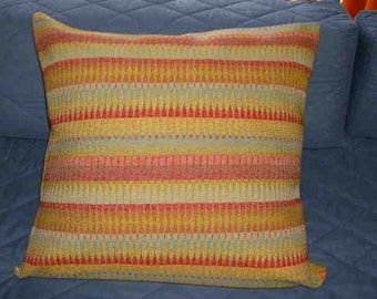 24 x 24 Bold And Rainbow Colorful Throw Pillow Cover