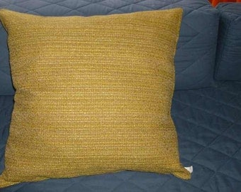 23 x 23 Gold Tone Horizontal Textured Lines Throw Pillow Cover