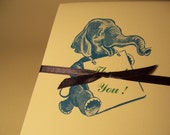 Elephant Thank Yous: Letterpress Card Set
