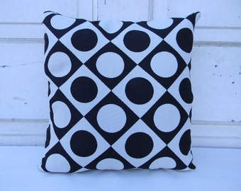 Black and White Geometric Design Pillow