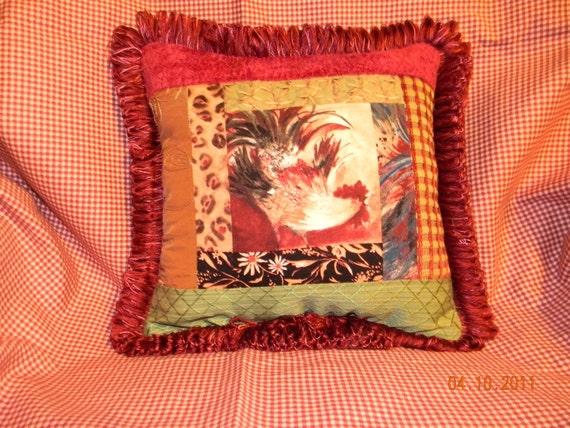 Elegant Rooster Pillow