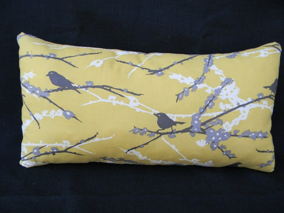 SALE  Decorating's New Couple of the Year - Yellow & Gray Pillow