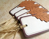 Autumn Gift Tags, Place Setting Tags, Party Favor Tags