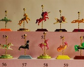 Dollhouse Miniature Carousel Stand Figurine Kit- choose from 63 animals