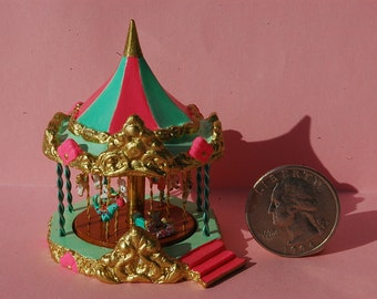 Miniature Dollhouse Carousel Kit- choose from 53 animals