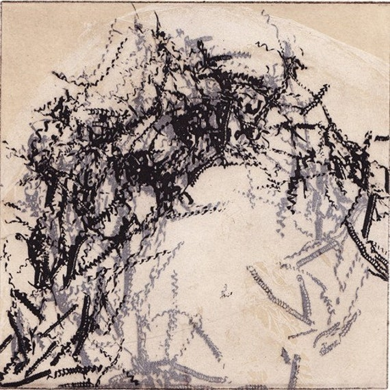 Abstract Etching Print:You Turn The Screws