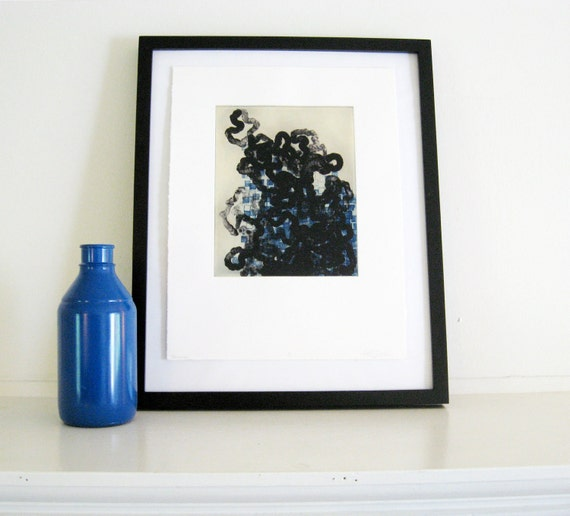 Abstract Etching Print . Modern Home Decor: Trace