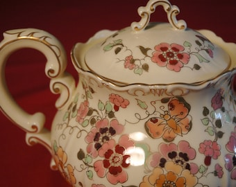 "Zsolnay ""Butterfly"" Porcelain Tea Set for 6"