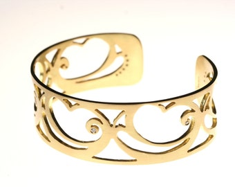 Nouveau Cuff with Diamonds
