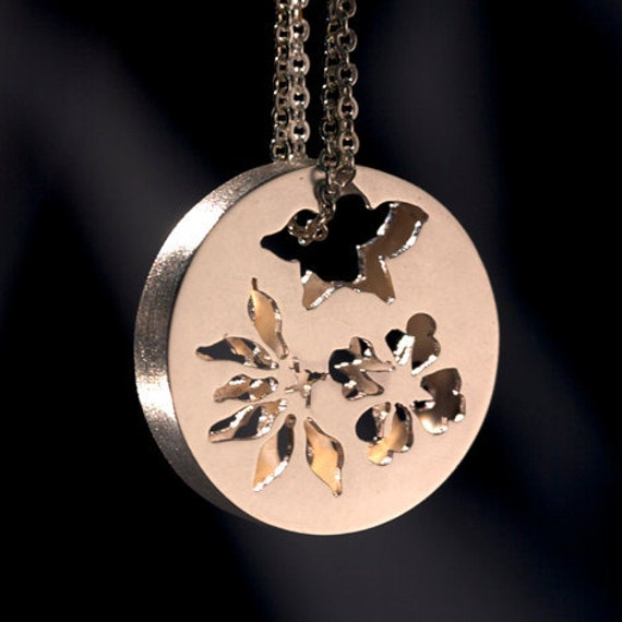 Silver Customizable Double Sided Pendant