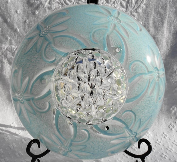 Overhead Light Covers: VINTAGE Dome Style Ceiling Light Cover Shade Floral Design