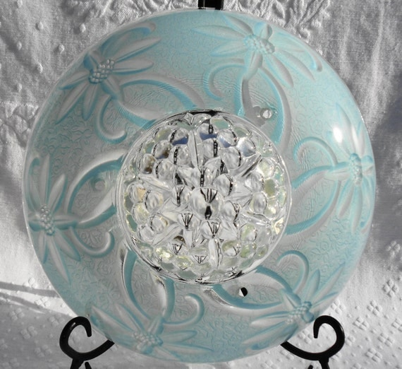VINTAGE Dome Style Ceiling Light Cover Shade Floral Design