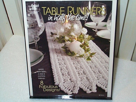 Crochet Table Runners Patterns in half the time Annie's Attic 8 designs