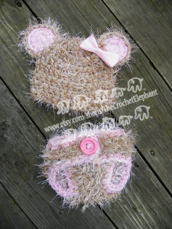 Fuzzy Bear Set, Newborn