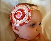 Peach Crochet Head Band
