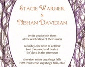 Wedding Invitations - tree branches