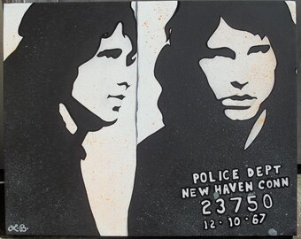 Jim Morrison - 16x20 Hand-painted Acrylic on Canvas (Made to Order)