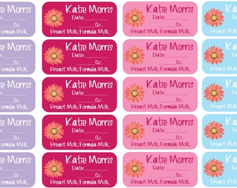 27 Short Wide Single Use Baby Labels