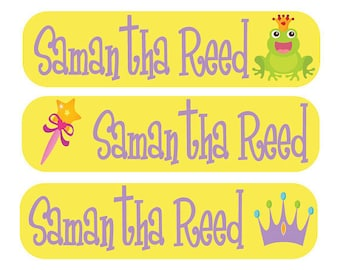 48 Custom Children Labels - Perfect for Toys, Books, Lunch Boxes, School Supplies  - Personalized Children Tags