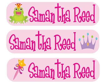48 Custom Children Labels - Perfect for Books, Lunch Boxes, School Supplies  - Personalized Children Tags