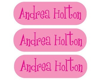 115 Personalized Iron on clothing labels - completely customizable