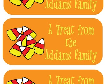 81 Trick or Treat Tags - Halloween Labels Personalized by Lollipop Labels