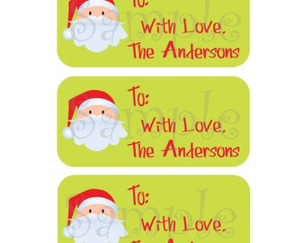 81 Custom Holiday Gift Tags - Large vinyl labels to simplify your gift giving this year