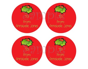 105 Christmas Labels - Add a custom and personalized touch to all of your Christmas gifts this year