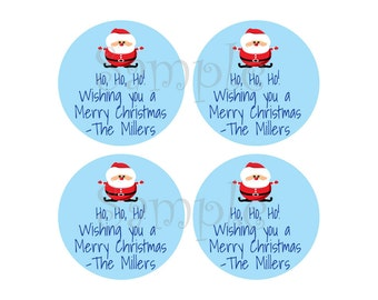 """105 Holiday Gift Stickers - 1.2"""" round stickers - Personalized and fully custom labels for your christmas gifts"""
