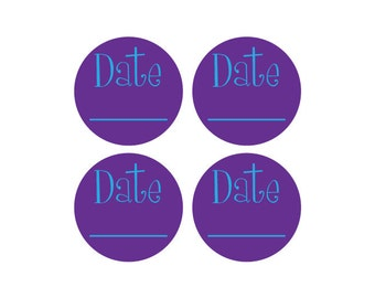 Personalized Removable Date Label & Permanent Dishwasher Safe Label Package - Perfect for having to date items frequently