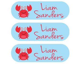 Personalized School Uniform - Laundry Care Tag Labels - Washing machine and dryer safe
