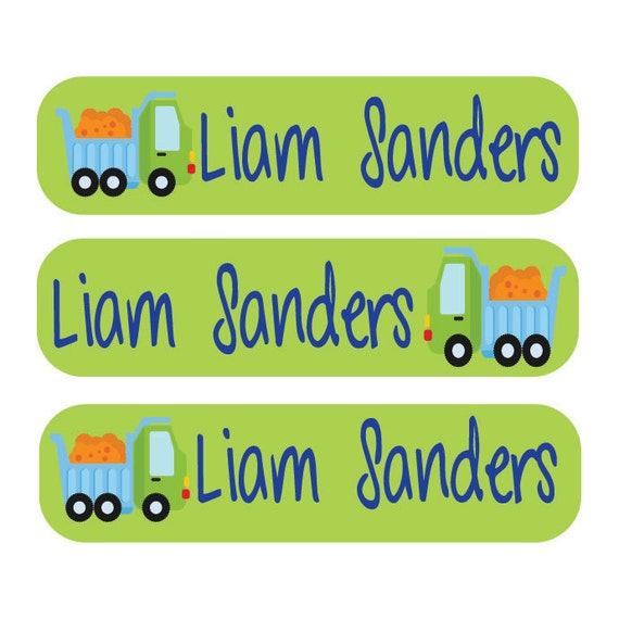 48 Waterproof Personalized Children's Labels - Back To School - Perfect for lunchboxes, pencil holders, tupperware, and supplies