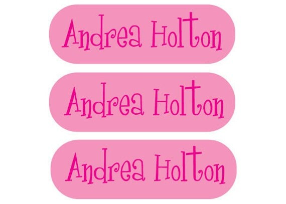 115 Custom Iron on clothing labels -  - Personalized for your child