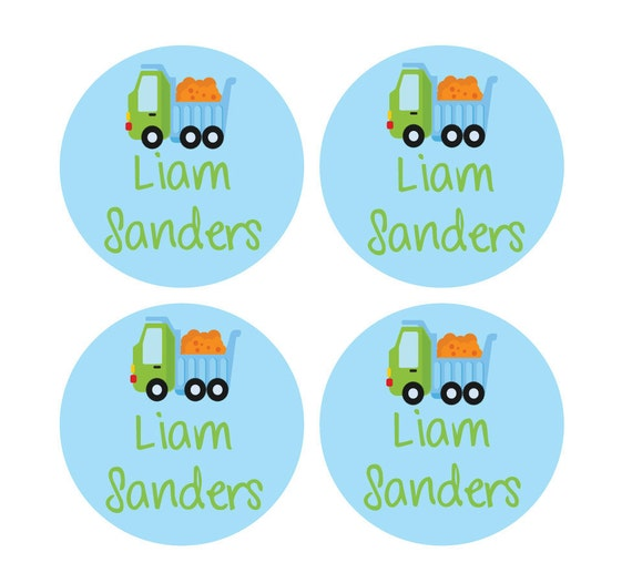 35 Extra Large Round Dishwasher Safe Baby Labels w/ Name and address